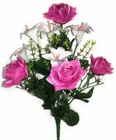 Букет роз с латексными лилиями 9 г. выс. 40 см