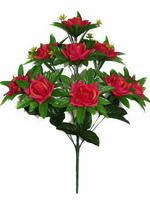 Букет роз на листе 9 г. выс. 56 см