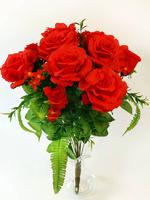 Букет роз с бутонами флористический 13 г. выс. 50 см