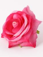 Голова розы шелк с пенопластом  диам. 7 см