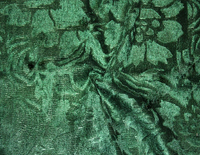 """Велюр с рисунком """"Роза"""" зеленый"""