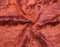 """Велюр с рисунком """"Роза"""" коричневый"""