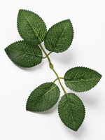 Лист розы с принтом разм. 19 см