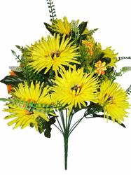 Букет хризантем игольчатых 12 г. выс. 36 см