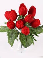 Букет тюльпанов с пенопластом 10 г. выс. 33 см