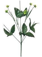 Подбукетник с листьями и добавками 7 гол. выс. 48 см