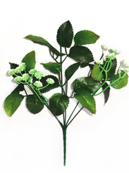 Подбукетник с листьями и добавками 6 гол. выс. 32 см