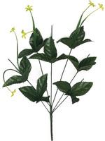 Подбукетник с листьями и добавками 7 гол. выс. 54 см