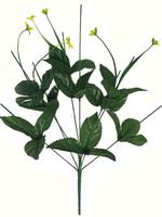 Подбукетник с листьями и добавками 9 гол. выс. 54 см
