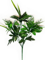 Подбукетник с листьями и добавками 7 гол. выс. 45 см