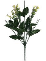 Подбукетник с листьями и добавками 9 гол. выс. 47 см