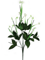 Подбукетник с листьями и добавками 9 гол. выс. 68 см