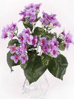 Букет соцветий фиалки атлас 9 г. выс. 55 см