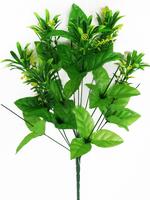 Подбукетник с листьями и добавками 13 гол. выс. 52 см