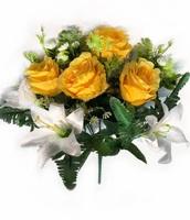 Букет роз с лилиями 10 г. выс. 36 см