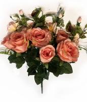 Букет бутонов роз с орхидеями 9 г. выс. 40 см