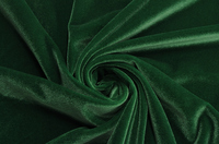 Бархат-стрейч зеленый